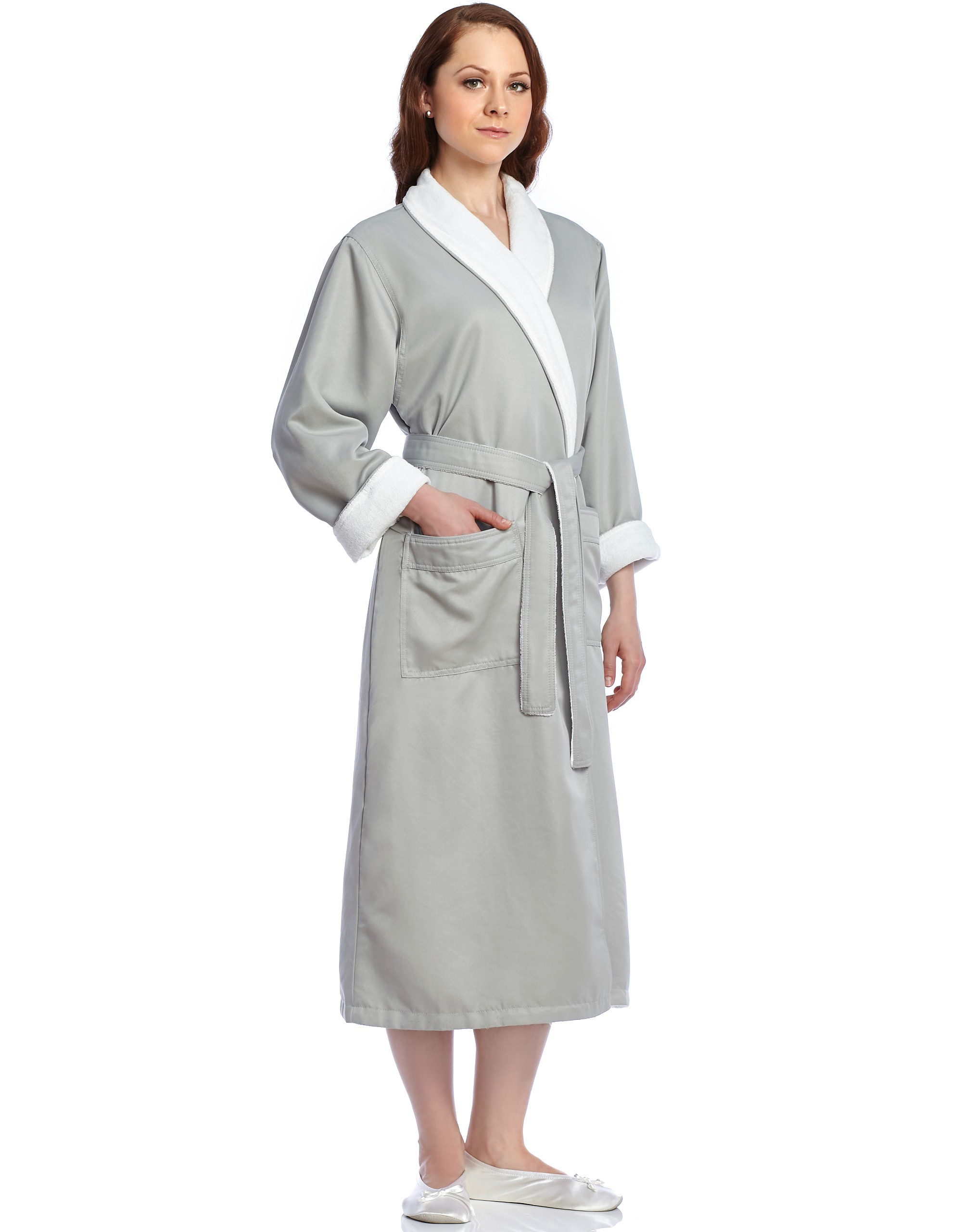 classcic 100% genuine hot-selling official Terry Lined Twill Spa Wrap Robe