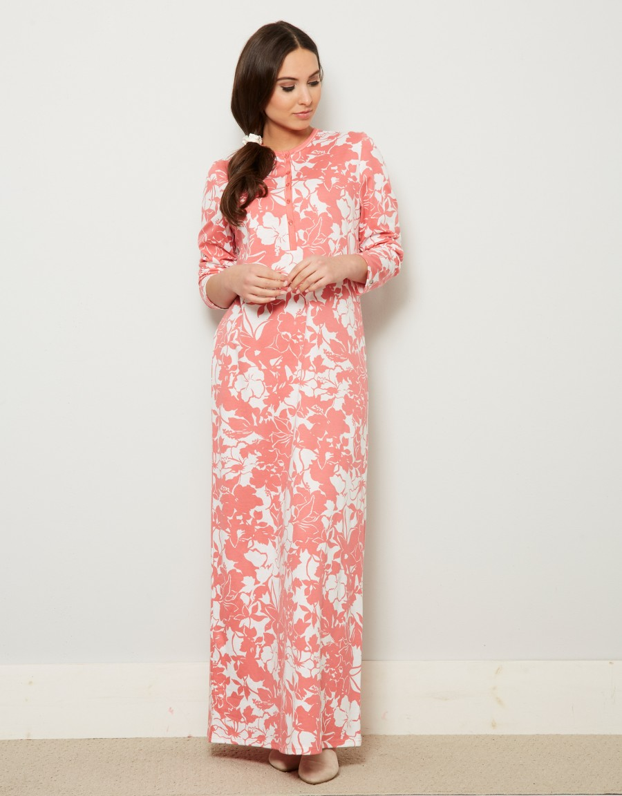 Rosch Button Front Print Nightgown
