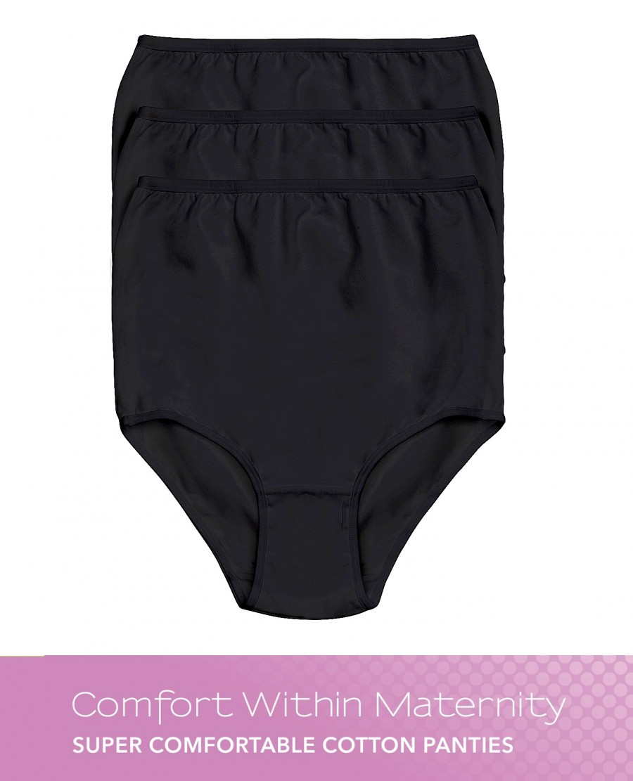 Comfort Within 3-Pack Ultra Comfort Cotton Brief Panties Maternity