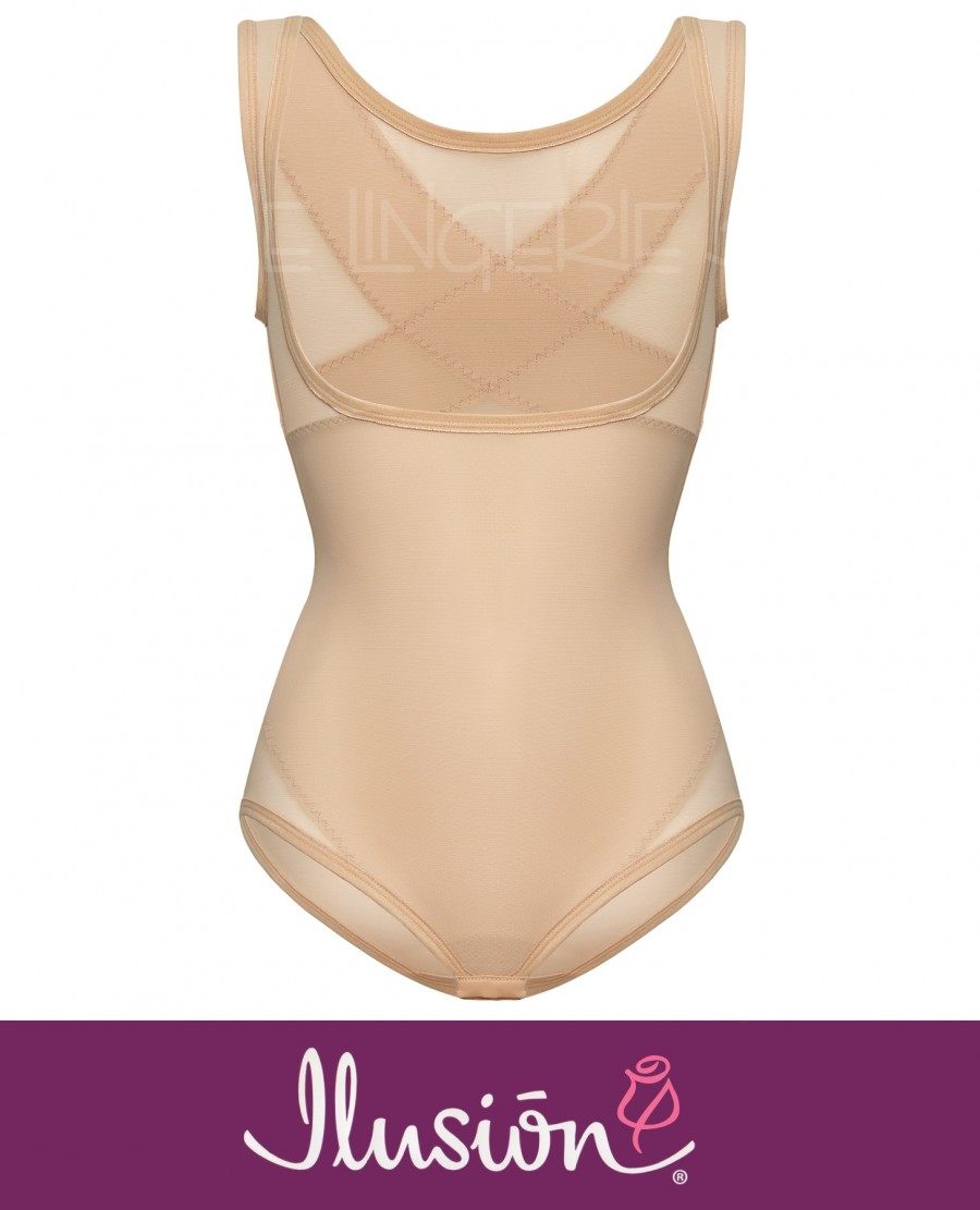 Ilusion 7193 Back Support Wear-Your-Own-Bra Shaper Bodysuit