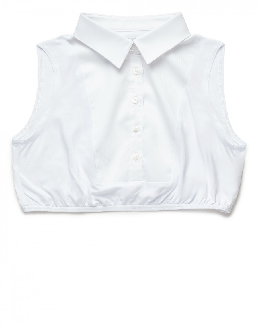Half Shell with Pointy Shirt Collar