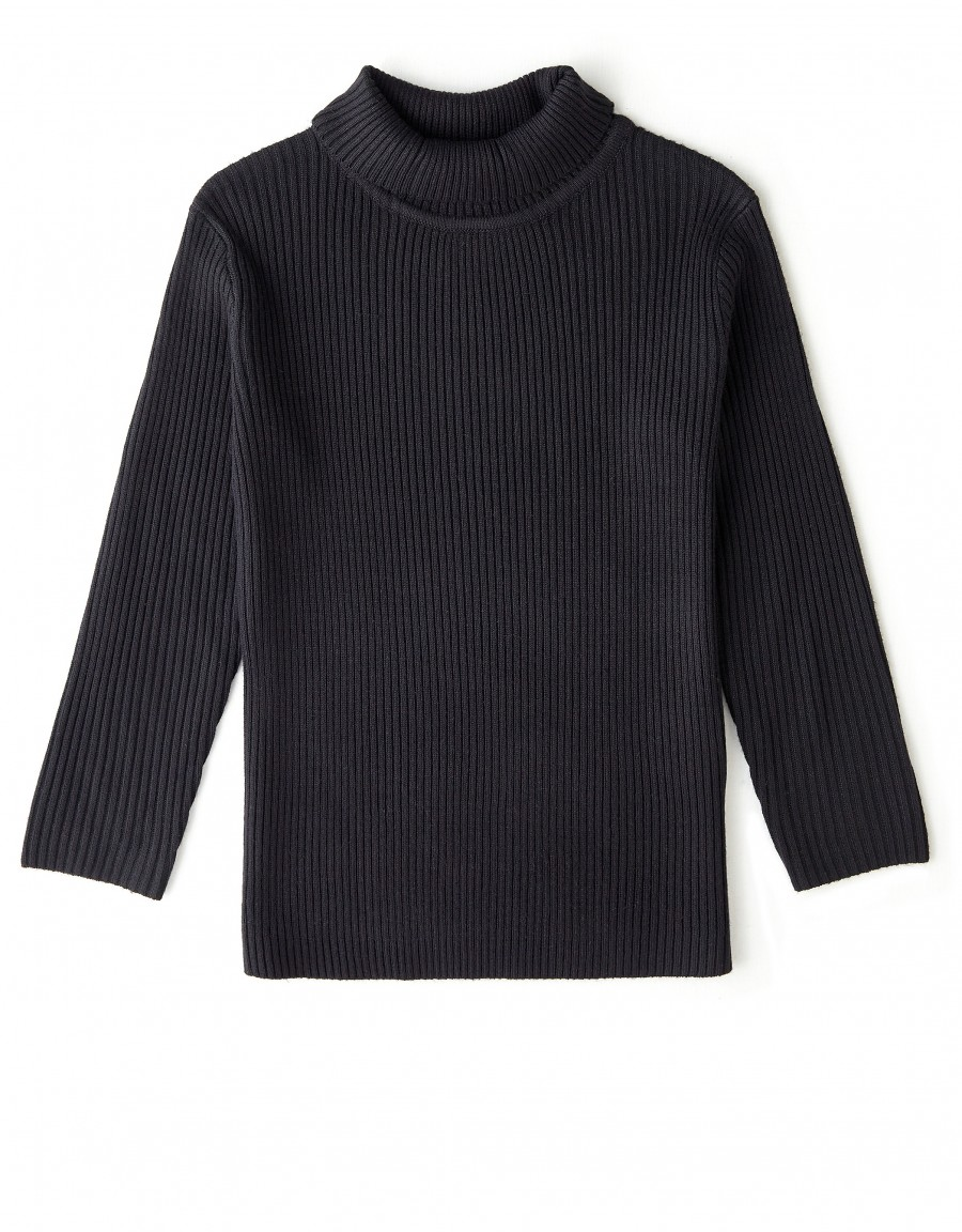 Ribbed Turtle Neck Sweater Black