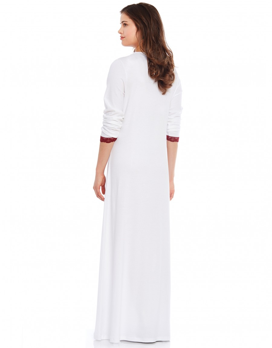 Pop On Nightgown with Flocking