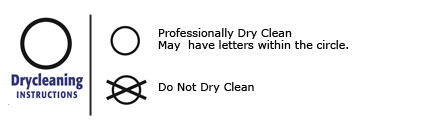 What does the dry clean symbol on your fabric care label mean?