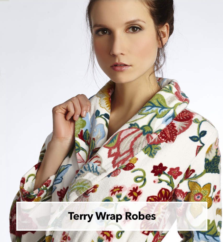 Long and short turkish style terry wrap robes